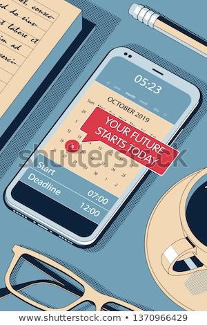 Your Future - Concept Vector Halftone Isometric Illustration Foto stock © Tashatuvango