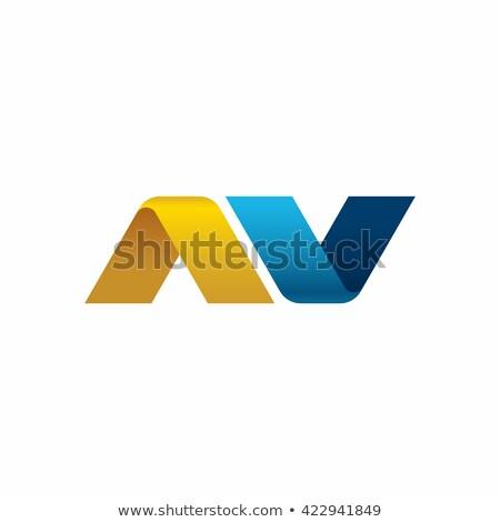 Bleu gradient lettre 3D rendu 3d illustration Photo stock © djmilic
