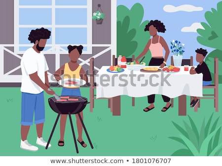 A family picnic scene  Stock photo © colematt