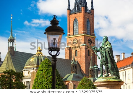 Kerk Stockholm moderne nieuwe barok stijl Stockfoto © borisb17