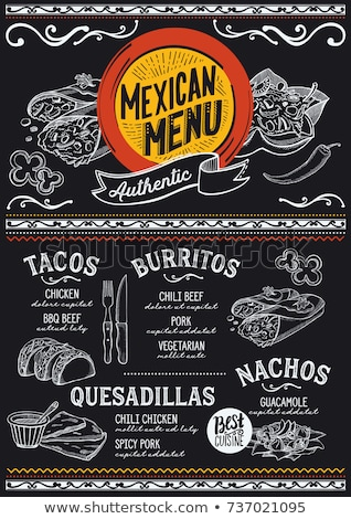 Mexicaans eten menu vintage eps 10 cafe Stockfoto © netkov1