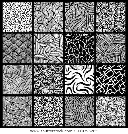 Collectie gestreept naadloos meetkundig golvend patronen Stockfoto © ExpressVectors