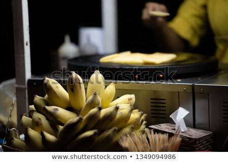 Banán piac ázsiai konyha hal természet levél Stock fotó © galitskaya