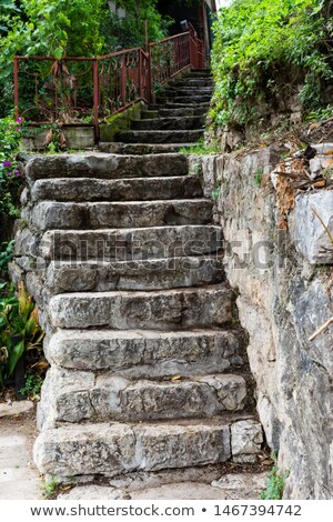 Abstract stone stairway Stock photo © boggy