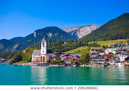 Igreja Áustria ver cidade natureza paisagem Foto stock © borisb17
