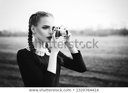 man · foto · vintage · film · camera - stockfoto © dolgachov