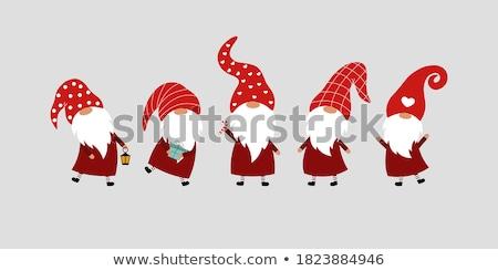 クリスマス コレクション 孤立した 白 ベクトル 芸術 ストックフォト © balasoiu