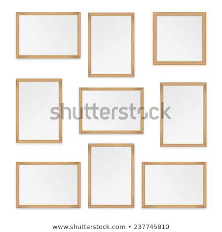 Houten frame licht ontwerp vakantie mooie Stockfoto © furmanphoto