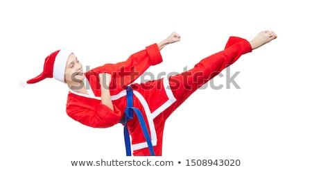 女性 服 サンタクロース キック 脚 子 ストックフォト © Andreyfire