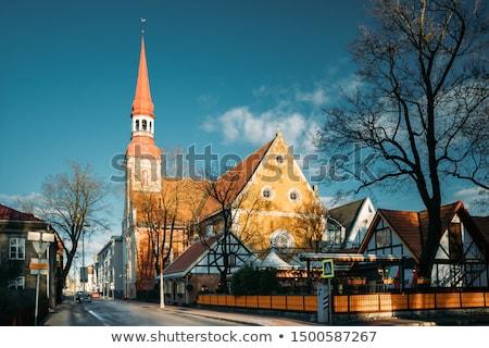 Kerk Estland hemel gebouw zomer architectuur Stockfoto © borisb17