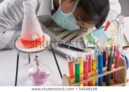 Sfinito scienziato laboratorio campione tubo Foto d'archivio © grafvision