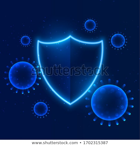 shield protecting coronavirus to enter building immunity Stock photo © SArts