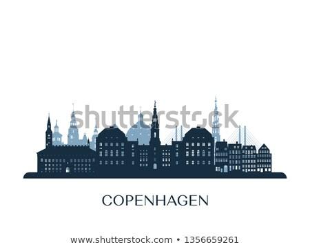 コペンハーゲン スカイライン 青 観光 ストックフォト © ShustrikS