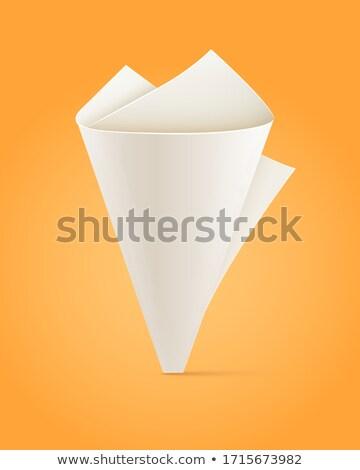 Papírzacskó fehér lap citromsárga eps10 háttér Stock fotó © LoopAll