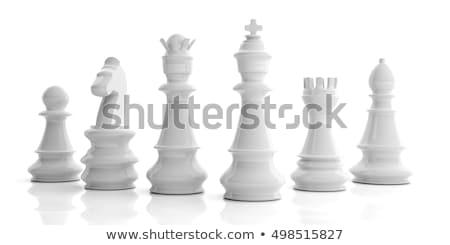 白 チェスの駒 3D 3dのレンダリング 実例 孤立した ストックフォト © djmilic