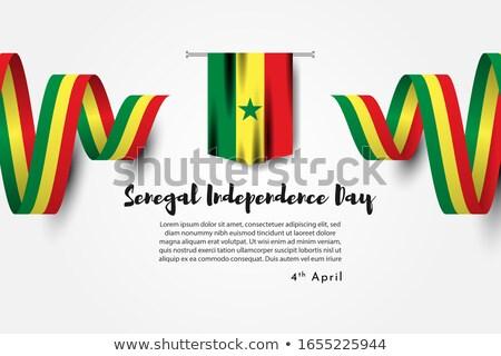 Sénégal pavillon blanche amour coeur signe Photo stock © butenkow
