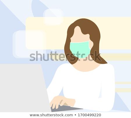Chirurgiczny twarz maski zakażenie koronawirus opieki zdrowotnej Zdjęcia stock © Anneleven