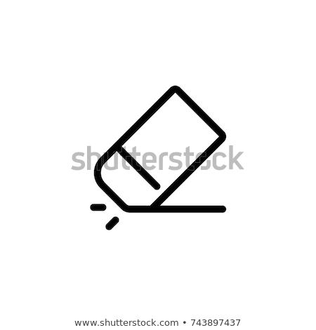 Vektor radír ikon szimbólum terv iroda Stock fotó © nickylarson974