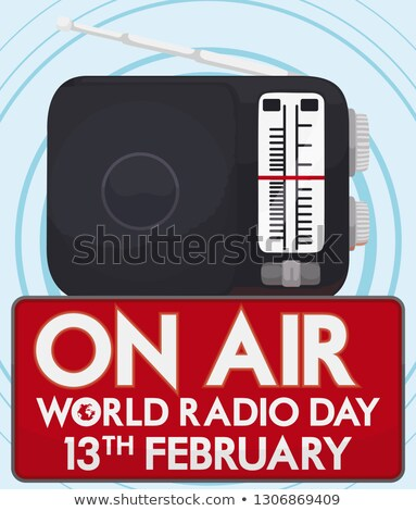 Мир радио день международных оратора ретро Сток-фото © shawlinmohd