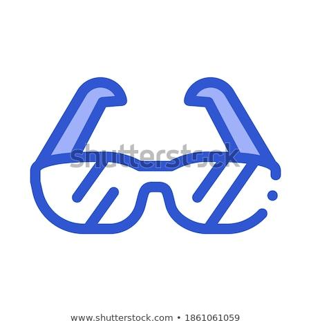 спорт очки оборудование вектора икона изометрический Сток-фото © pikepicture