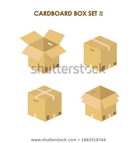 Cartón transporte cuadro envases icono Foto stock © pikepicture