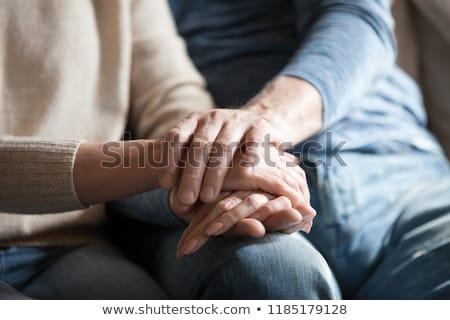 Velho senior homem demência apoiar cuidar Foto stock © AndreyPopov