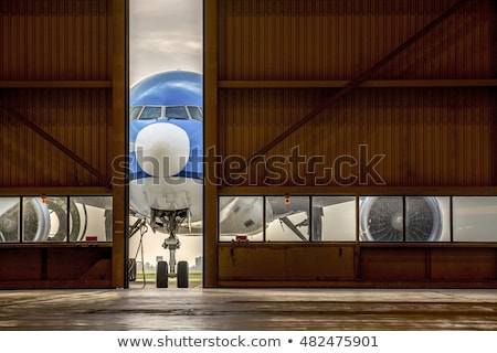 воздуха транспорт самолеты Motor небе океана Сток-фото © phbcz