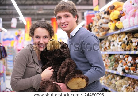 Couple in shop with big soft toy Stock photo © Paha_L