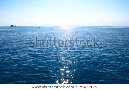 Mediterranean Sea Sunrise Water Horizon ストックフォト © ruzanna