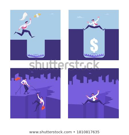 Otwór działalności człowiek pomoc finansów Zdjęcia stock © 4designersart