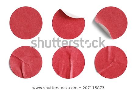 piros · matrica · címke · szürke · folt · fény - stock fotó © Arsgera