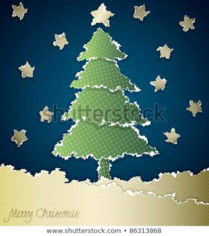 árbol · de · navidad · papel · rasgado · espacio · fondo · marco · invierno - foto stock © inxti