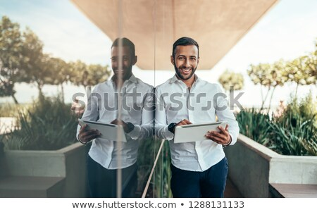 businessman standing outside stock photo © photography33