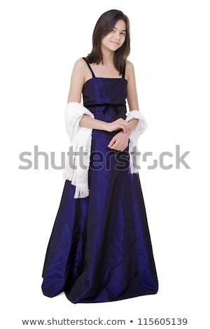 小さな 十代の少女 暗い 青 ドレス ガウン ストックフォト © jarenwicklund