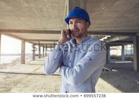 handyman · falante · fornecedor · homem · ferramentas · móvel - foto stock © photography33
