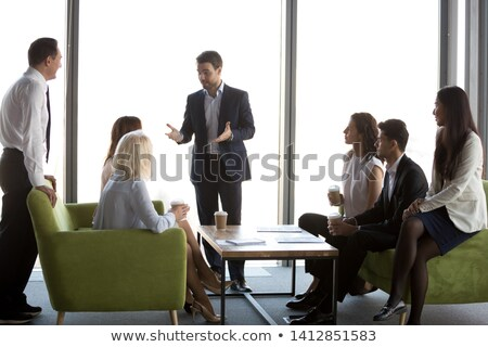 Biznesmenów spotkanie książki handshake komunikacji biały Zdjęcia stock © photography33