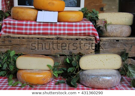 Different sorts of cheese at a market .(Provence, France) Stock photo © frank11