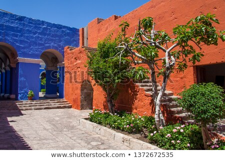 Colonial stlye arches Stock photo © emattil