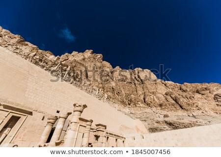 Säule Tempel Ägypten Wissenschaft Stein Stock foto © Aikon