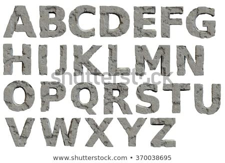 ongebruikelijk · oneven · spleet · steen · oppervlak · textuur - stockfoto © drizzd