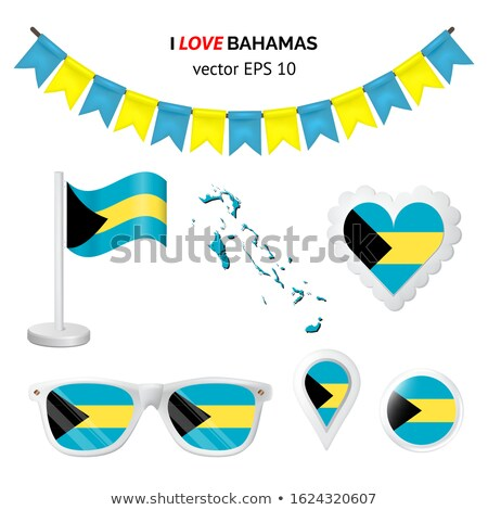 button in colours of Bahamas Stock photo © perysty