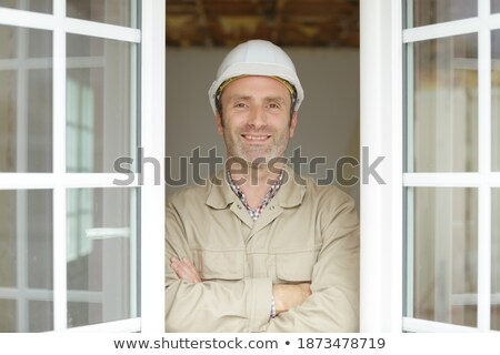 Window fitter satisfied with work Stock photo © photography33
