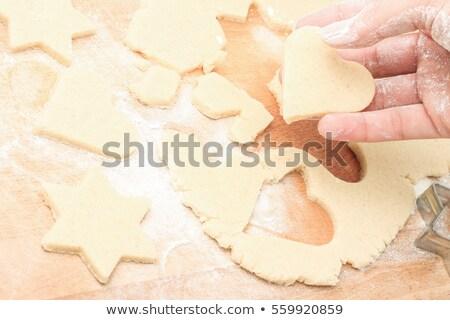 Készít sütik fából készült asztal közelkép kicsi Stock fotó © gewoldi