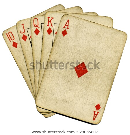 old playing cards royal flush stock photo © michaklootwijk