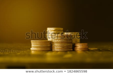 Gold Coins Piled High Stock photo © ArenaCreative