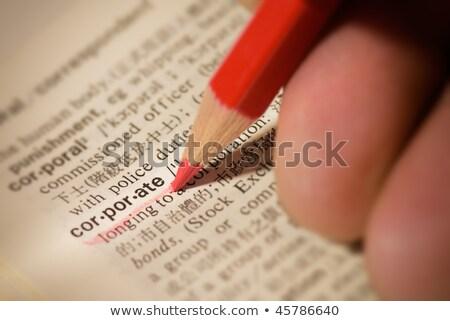 企業 · 言葉 · 辞書 · 定義 · ビジネス · 紙 - ストックフォト © tangducminh