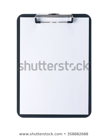 Foto stock: Clipboard · isolado · nota · conselho · bloco · de · notas · documento