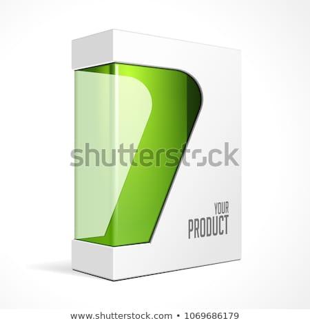 Termék szoftver doboz zöld szürke terv Stock fotó © Quka