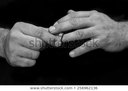 cold wedding rings Stock photo © gewoldi