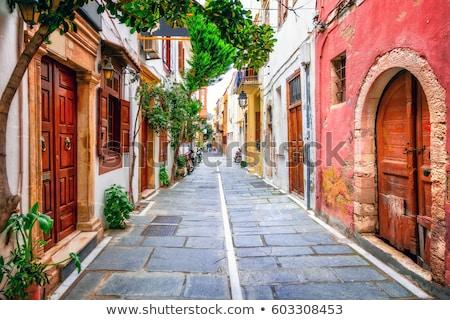 Pictorial greek street. Crete, Greece Stock photo © dashapetrenko